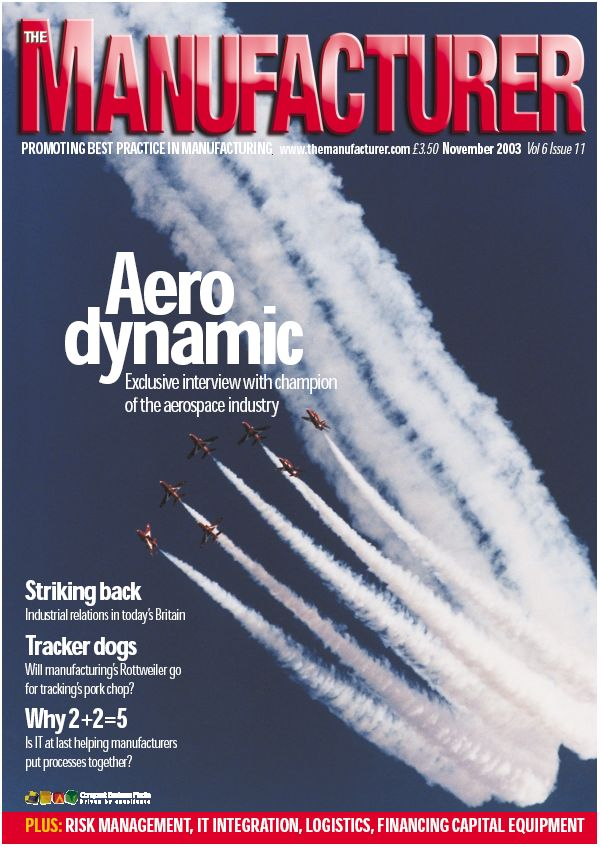 Front cover of 'The Manufacturer' Nov 2003